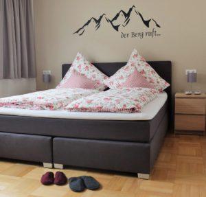 Schlafzimmer Ferienwohnung Zuderell